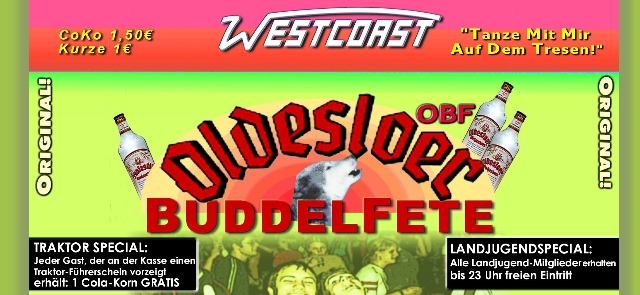 Westcoast Buddelparty